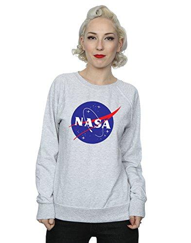 NASA Donna Classic Insignia Logo Felpa Heather Grey