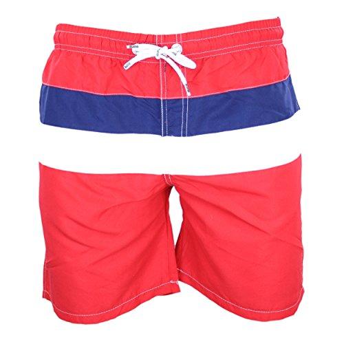 Moraj Herren Badeshorts mit Seitentaschen Bunt Bermuda, Farbe: Muster 7 - Rot, Größe: L / 48-50 (7 Bermuda)