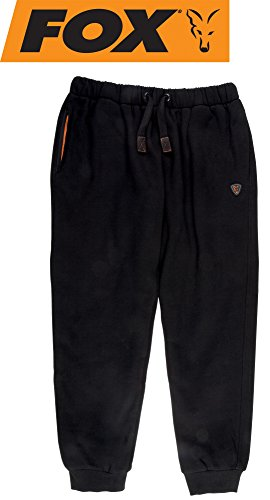 Fox Black/Orange Heavy Lined Joggers Angelhose, Anglerhose, Hose für Angler, Angelhosen, Anglerhosen, Jogginghose, Größe:S