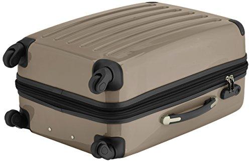 HAUPTSTADTKOFFER - Alex - 2er Koffer-Set Hartschale glänzend, 65 cm + 55 cm, 74 Liter + 42 Liter, Graphit-Blau Aubergine-Champagner