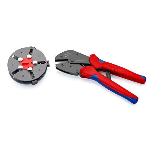 Knipex 97 33 01 MultiCrimp Pince à sertir avec porte-profil et 3 profils