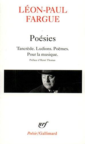 Poésies Tancrede Ludions Poemes Pour la musique