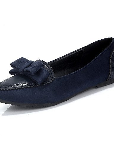 ZQ gyht Scarpe Donna-Ballerine-Casual-Punta arrotondata-Piatto-Finta pelle-Blu / Borgogna / Tessuto almond , dark blue-us8 / eu39 / uk6 / cn39 , dark blue-us8 / eu39 / uk6 / cn39 dark blue-us8 / eu39 / uk6 / cn39