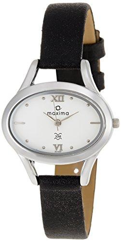 Maxima Attivo Steel Analog White Dial Women's Watch - 22160LMLI