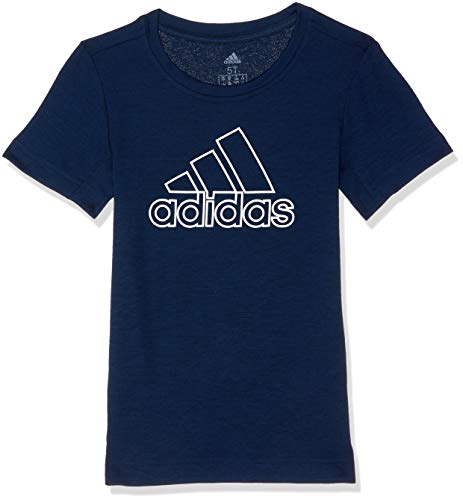 adidas Jungen Training Prime Kurzarm T-Shirt, Collegiate Navy/White, 140