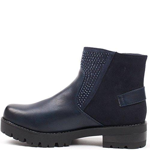 Ideal Shoes, Damen Stiefel & Stiefeletten Marine