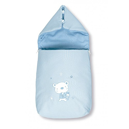 Pirulos 37013013 - Saco recién nacido, diseño osito star, algodón, 37 x...