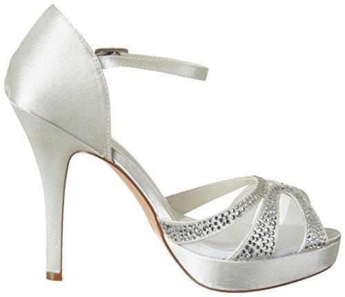 Menbur Wedding Amelia, Chaussures Compensées Femme Elfenbein (Ivory)