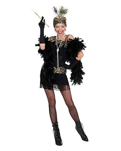 Josephine Kostüm Baker - Horror-Shop Charleston Kleid schwarz-Gold S