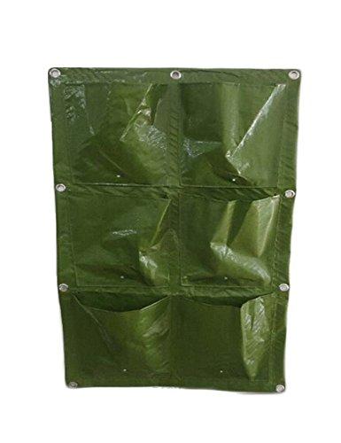 Vertikale Garten Pflanzen Tasche Grow Bags mit 6 Taschen // Garten living wall Fassadenbegrünung - Wiederverwendbar 1er Pack