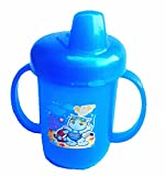 #3: First Sylish Smarty Bpa free Unbreakable blue baby /infant pp water/juice training gravity sipper cup with handles & dust free cover lid