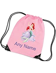 Personalised Little Mermaid Style School/PE/Swim Bag *choice of name colour* By Mayzie Designs®