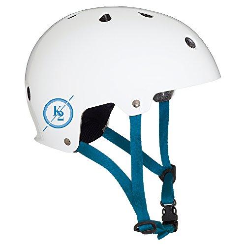 K2 Erwachsene Varsity Helm, Weiß/Blau, L