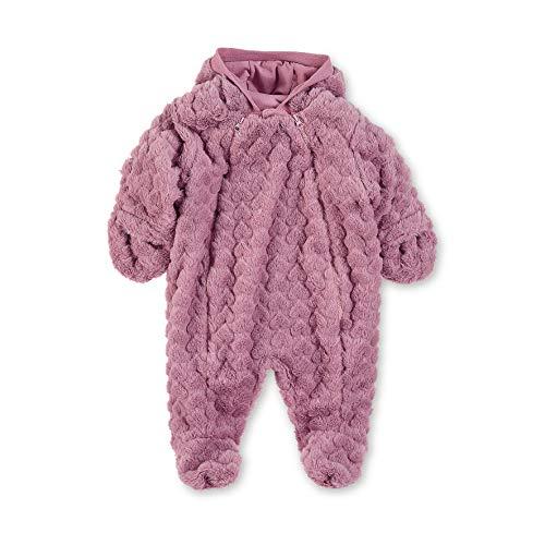 Sterntaler Flauschiger Overall für Mädchen mit Kapuze und Doppel-Reißverschluss, Alter: 3-4 Monate, Größe: 56, Lila