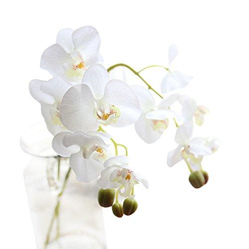 Fiori artificiali, fiori finti in seta phalaenopsis, bouquet di nozze, festival nuziali, regalo fai da te, feste, hotel, ufficio, giardino, artigianato, decorazione per la casa bianco