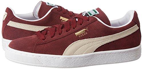 Rosso 38 Puma Suede Classic 352634 Sneaker Uomo BURGUNDY/WHI wce