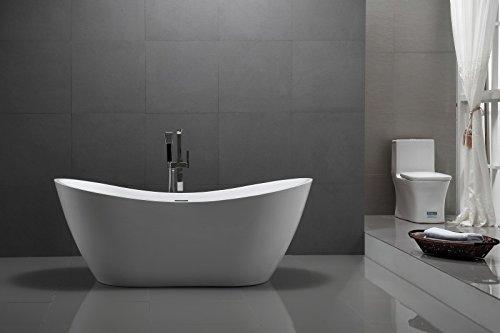 Freistehende Badewanne Acryl VIENA weiß - 180 x 80 cm