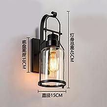LKMNJ Sepia lámparas de pared lámparas de pared personalidad creativa dormitorio lámparas de pared de vidrio escaleras El Restaurante Lámparas y accesorios de iluminación,Blacke