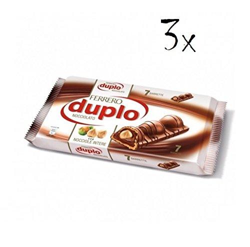 21x Ferrero Kinder Schoko riegel Duplo Schokolade kekse riegel aus Italien 26g