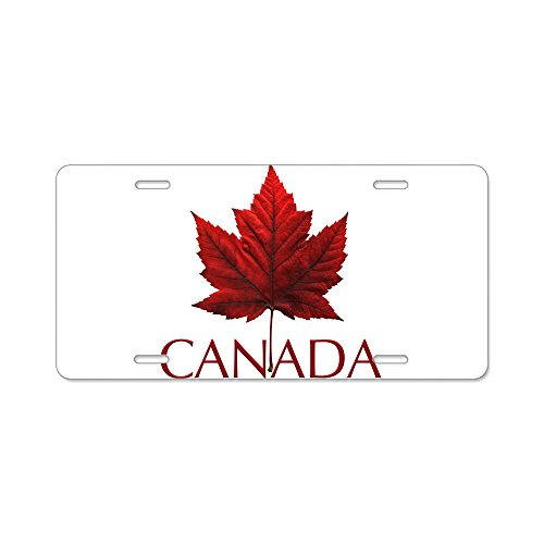 CafePress Kanada Souvenir Aluminium Nummernschild-Standard Mehrfarbig