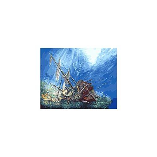 WACYDSD Puzzle 1000 Teile 3D Puzzle Sinkendes Schiff Unter Seehauptdekor - Sinkende Schiff