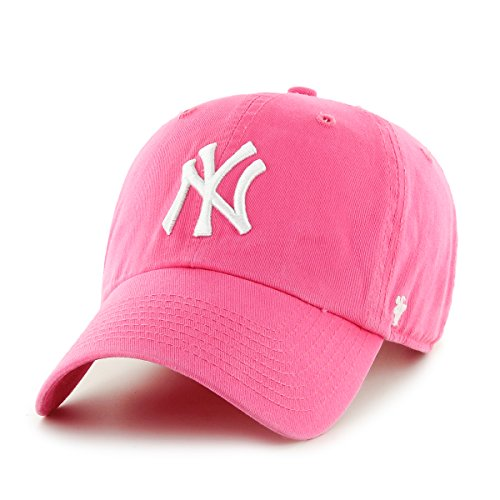 47Brand RGW17GWSNL Clean Up Strapback NY Yankees Pink, Size:ONE Size