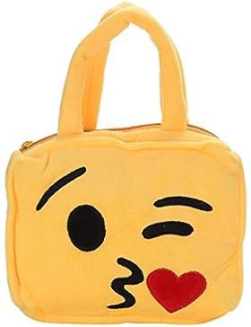 Bluelans Funny Cute Emoji Face Expression Kids Kinder Plüsch Tasche Handtasche Schultasche, Plüsch, 5#, 26.5cm...