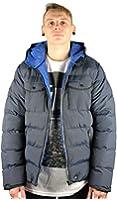 Bellfield RADON N Navy Blue Mens Winter Hooded Puffa Jacket Coat