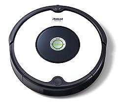 Idea Regalo - iRobot Roomba 605 Robot Aspirapolvere, Sistema di Pulizia ad Alte Prestazioni, Adatto a Pavimenti e Tappeti, Ottimo per i Peli degli Animali Domestici, 33 watt, Autonomia fino a 1 ora, Bianco