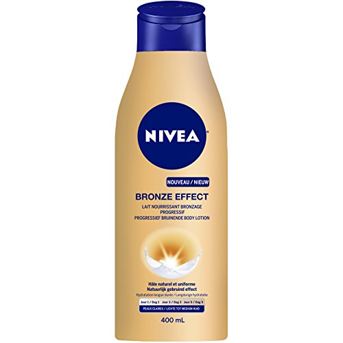 Nivea bronze effect, latte nutriente abbronzante graduale per pelli chiare 400 ml