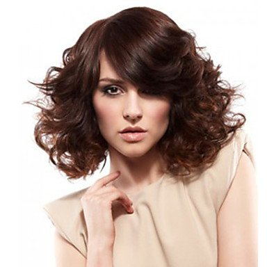 HJL-12 pouces femmes courte vague de corps synth¨¦tique perruque de cheveux brun fonc¨¦ , dark brown