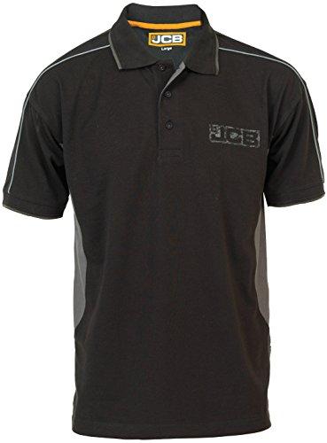 JCB Fenton polo Hemd, Black, Medium schwarz