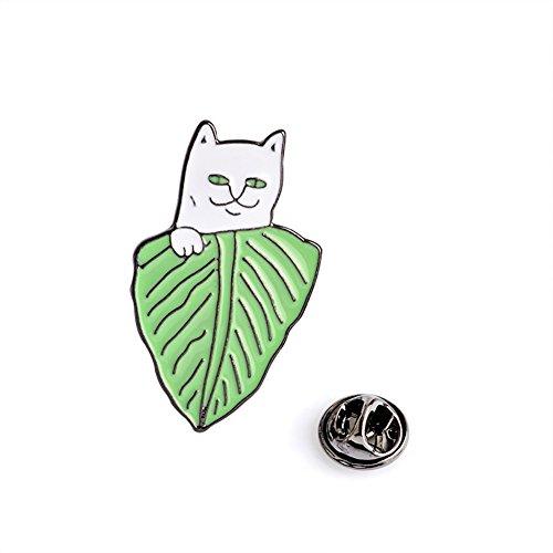 Vi.yo Katze Sammlung Brosche Nette Milch Katze Broschen Pin für Mädchen Anstecknadeln für Damen Schal Shirt Kleiden Dekoration Pin Pullover Clip Schmuck ()