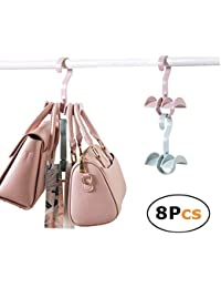 Ahorro de espacio apilables de almacenamiento para colgar armario organizador para bolsos bolsos con 2 ganchos…