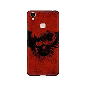 RAYITE Guns of Skull Premium Printed Mobile Back Case For Vivo V3 Max
