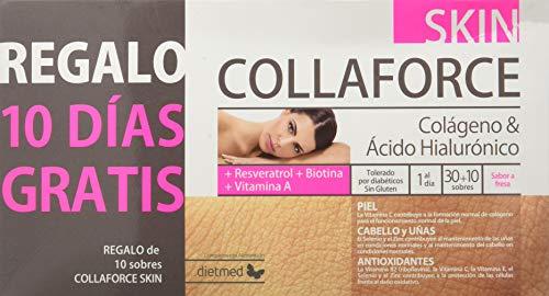 DietMed Collaforce Skin - Suplemento con Colágeno y Ácido Hialurónico, 40 Sobres
