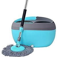 Fregona Clean up-Sistema de limpieza con fregona y cubo fregona que ahorra trabajo para todo tipo de suelos ahorra tiempo y energía Cubo de fregona y trapeador