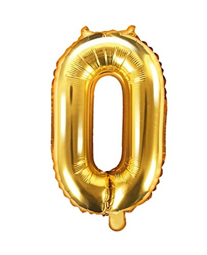 Feste Feiern Geburtstagsdeko Zahlenballon 0 Gold metallic Null 86cm I Dekoration Geburtstag Jubiläum Nr. 0 Party Happy Birthday