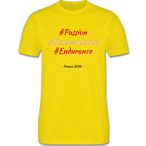 Fußball EM 2016 - EM 2016 Österreich - L190 - Premium Männer Herren T-Shirt mit Rundhalsausschnitt Lemon Gelb