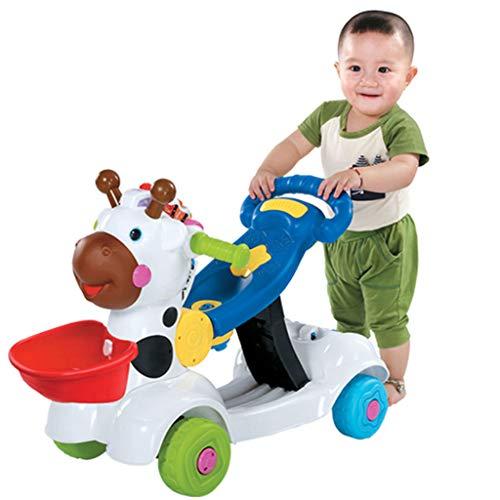 Yxxhm- baby walker trolley bambino multifunzione con musica giocattolo regolabile 0-2 anni coordinazione genitore-bambino comunicazione 57 * 33 * 50cm