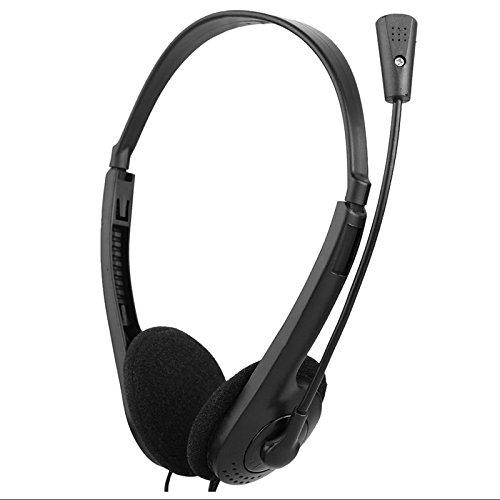 Sinotech 3.5mm stereo cuffie con microfono archetto regolabile per computer portatile desktop