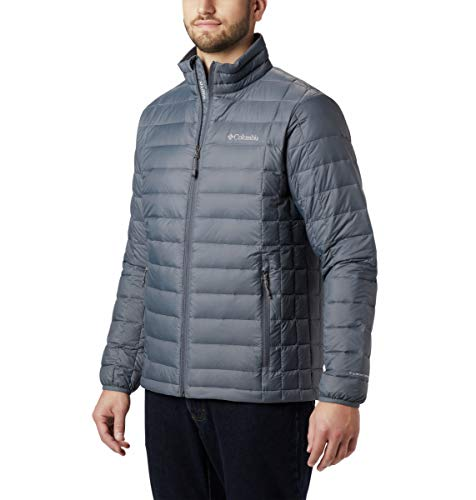 Columbia Men's Voodoo Falls 590 TurboDown Jacket, Graphite, Large/Tall