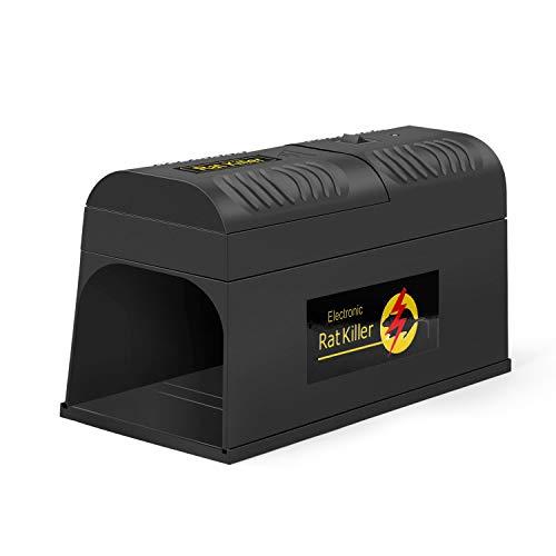 Lemebio Trappola per Ratti Elettronica Trappola per topi Trappola pulito - Uccide i roditori senza tracce nè odori - Robuste scatole per ratti, Topi (1 Pack)