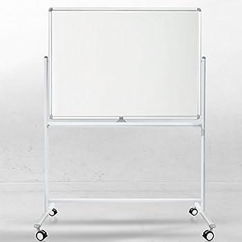 magnetoplan 1240689 Whiteboard mit Fahrgestell komplett mit Ablageschale f/ür Marker und Zubeh/ör,1800 x 1200 mm speziallackierte Oberfl/äche