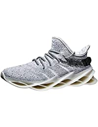 iHAZA Sneakers Da Uomo Outdoor Mesh Casual Sport Shoes Lace-Up Breathable Mountaineering Sneakers