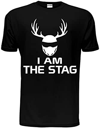I Am The Stag Funny Stag Do/Mens T-Shirt Unisex Large Black