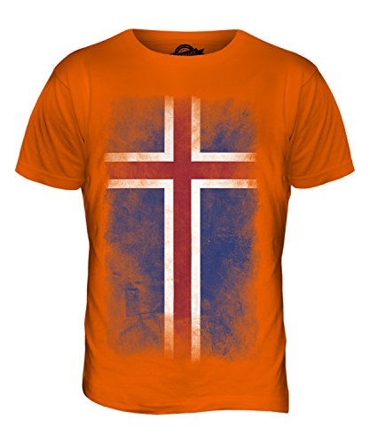 CandyMix Island Verblichen Flagge Herren T Shirt Orange