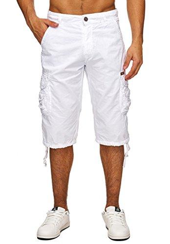 Herren Cargo-Shorts · (Relaxed Fit) Kurze Jeans Bermuda Sommer Cargo Short Freizeit Adventure Hose aus reiner Baumwolle · H1740 in Markenqualität (Relaxed Jeans Herren Neue)