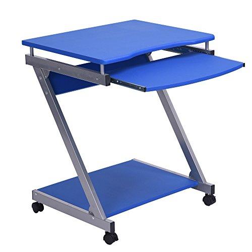 Innovareds computer office desk task tavolo 360ruote girevoli tavolo scrivania multifunzione mobile blu