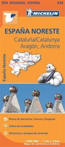 Mapa Regional Cataluña,/Catalunya, Aragón, Andorra (Carte regionali) por Vv.Aa